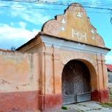 Entrance in Feldioara (Marienburg) fortified church Stock Photography