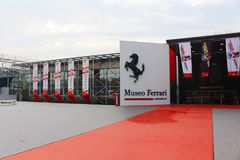 The entrance of Ferrari Museum in Maranello, Italy stock photography
