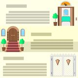 Entrance flat icons Royalty Free Stock Image