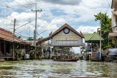 Entrance Floating market thailand Stock Image