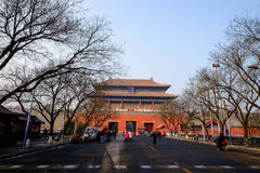 Entrance of Forbidden City China. Forbidden City in Beijing China Stock Photo