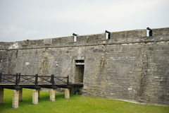 The entrance of the Fort Castillo de San Marcos Stock Images