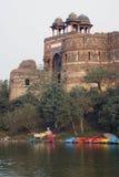 entrance forten som är mughal till Arkivbild