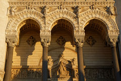 Entrance of the Fourviere Basilica Royalty Free Stock Photo