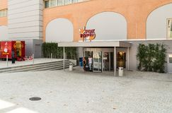 Entrance of the FoxTown, the biggest Factory Outlet Stores center in Southern Europe, is located in Mendrisio of canton Ticino. Mendrisio, Ticino, Switzerland Stock Photos