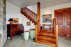 Entrance foyer with staircase Stock Image