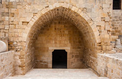 Entrance. Fragment of a building in Kourion Stock Photography