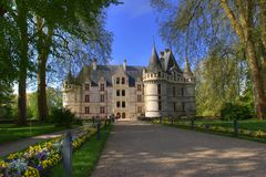 Entrance of a french castle Royalty Free Stock Photography