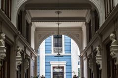 Entrance of the FUGAZ gallery passage Ronald royalty free stock photo