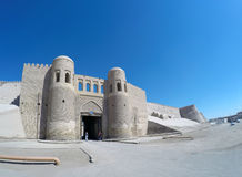 Entrance gate in the ancient city wall. Uzbekistan. Khiva Stock Photo