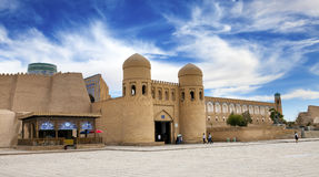 Entrance gate in the ancient city wall. Uzbekistan. Khiva Royalty Free Stock Images