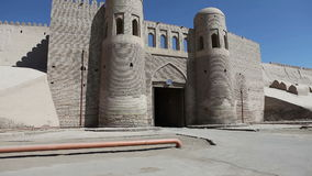 Entrance gate in the ancient city wall. Uzbekistan. Khiva. Entrance gate in the ancient city wall. Uzbekistan Khiva stock video