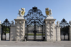 Entrance gate of Belvedere Stock Images