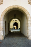 The entrance gate of the castle Spilberk in Brno, Royalty Free Stock Photos