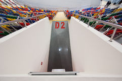 Entrance gate D2 of Sport arena Megasport, Moscow, Russia royalty free stock photos