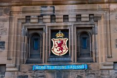 Entrance gate of Edinburgh Castle royalty free stock photography