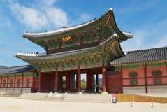 Entrance gate of the Gyeongbokgung Royal Palace in Seoul, Korea. Stock Images