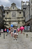 Entrance Gate of the Historical Center of Vannes, Brittany, France Royalty Free Stock Photo