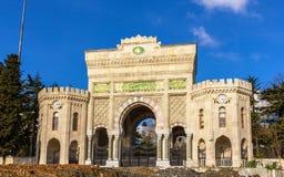 Entrance gate of Istanbul University Stock Images