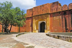 Jaigarh Fort Entrance Gate. The entrance gate of Jaigarh Fort,Jaipur,Rajasthan. Jaigarh Fort situated on the edge of Aravalli range.The fort was built by Jai royalty free stock photos