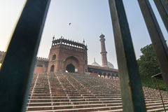Entrance gate of the Jama Masjid Mosque in New Delhi, India Royalty Free Stock Image