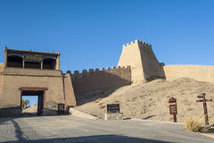 Entrance gate of Jiayuguan castle Royalty Free Stock Photo