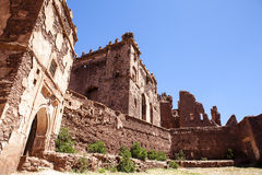 Entrance gate of Kasbah Telouet in the High Atlas, Central Morocco, North Africa Royalty Free Stock Images