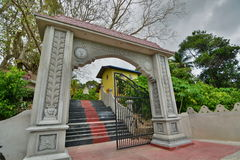 Entrance gate of the Kothduwa temple. Madu ganga wetlands. Balapitiya. Sri Lanka stock photos