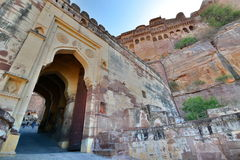 Entrance gate. Mehrangarh Fort. Jodhpur. Rajasthan. India Royalty Free Stock Photography