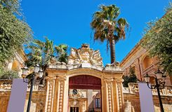 Entrance gate into Natural History Museum Mdina of Malta. Entrance gate into Natural History Museum in Mdina of Malta Royalty Free Stock Photography