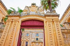 Entrance gate into Natural History Museum in Mdina Malta. Entrance gate into Natural History Museum in Mdina, Malta Royalty Free Stock Photo