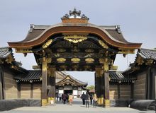 Entrance gate of Nijo Castle Royalty Free Stock Photo
