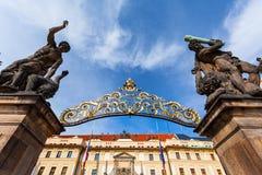 Entrance Gate of the Prague Castle, Czech Republic Royalty Free Stock Images