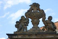Entrance Gate of the Prague Castle Stock Photos