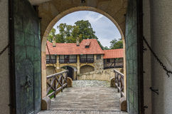 Entrance gate romantic castle Royalty Free Stock Photo