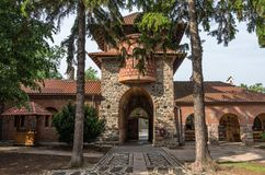 Entrance gate in Serbian Orthodox Monastery Zica royalty free stock photography
