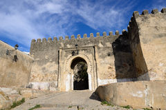 Entrance gate in Tanger, Morocco, Africa. Entrance gate behind ancient walls of the old town (Medina) in Tanger, Morocco, Africa stock photo