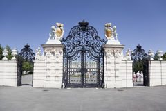Entrance gate to the Belvedere Castle in Vienna Stock Image