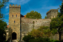 The entrance gate to the castle Bitov. Stock Photography