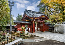 Entrance gate to Chichibu Shrine, Chichibu, Saitama prefecture, Japan. Royalty Free Stock Photography