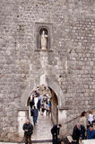 Entrance Gate to city of Dubrovnic in Croatia Europe Royalty Free Stock Photo