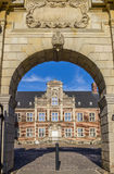 Entrance gate to the courtyard of castle Ahaus. In Germany Stock Image