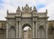 Entrance gate to Dolmabahce Palace Istanbul Royalty Free Stock Photography