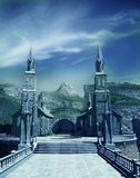 Entrance gate to fantasy castle Stock Image