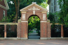 Entrance Gate to Harvard Yard Stock Images