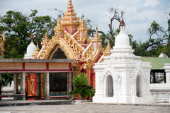Entrance gate to Maha Lokamarazein Kuthodaw Pagoda. Royalty Free Stock Photo