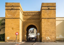 Entrance gate to the medina in Casablanca - Morocco. CASABLANCA, MOROCCO - APRIL 9,2017 - Entrance gate to the medina in Casablanca. Casablanca is the largest Stock Images