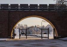 Entrance gate to Novgorod Kremlin Royalty Free Stock Image