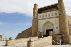 The entrance gate to the old city of Bukhara. Uzbekistan Stock Images