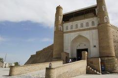 The entrance gate to the old city of Bukhara. Uzbekistan Stock Photo